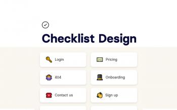 Checklist Design Ux