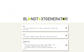Blind Text Generator For Dummy Copy