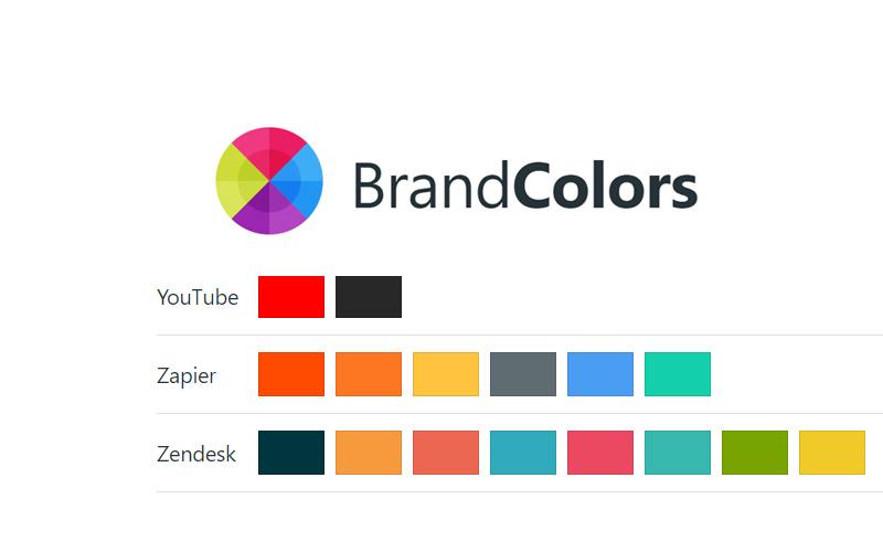 Brand Colors Of Popular Online Brands