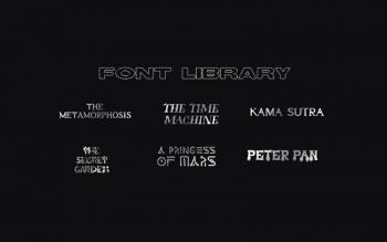 Font Library Classic Book Literature