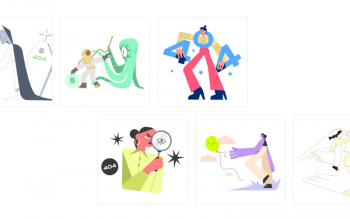 404 Error Page Free Illustrations