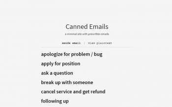 Canned Prewrittern Emails