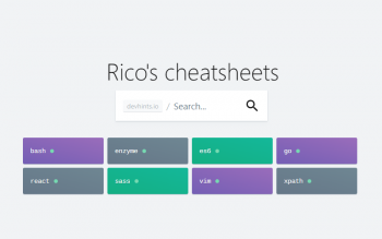 Ricos Developer Cheatsheets Collection