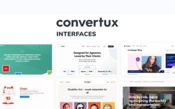 Convertux Interfaces Web Design Inspiration