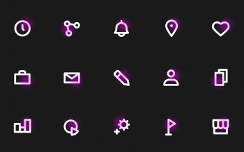 Neon Icons Pack Freebie