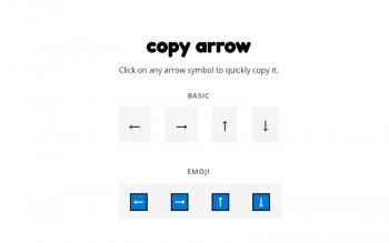 Copy Arrow Symbols Online