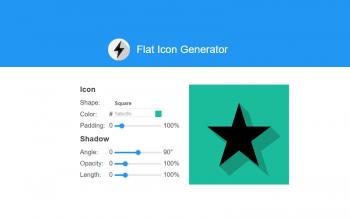 Flat Icon Generator Tool