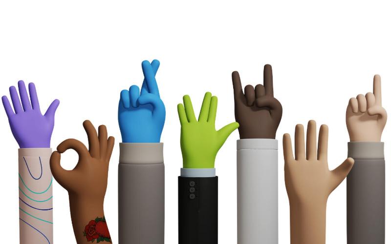 Handz Gesture 3d Illustrations