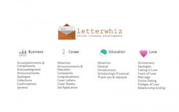 Letterwhiz Free Sample Letter Templates