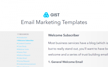 Gist Email Marketing Templates