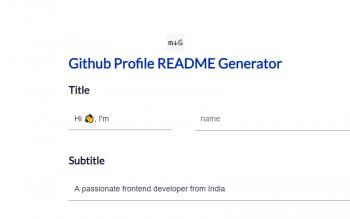 Github Profile Readme Generator