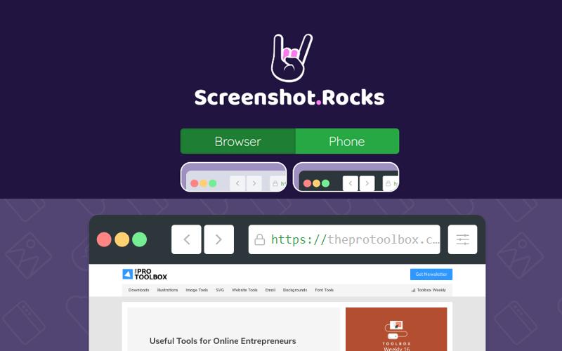 Screenshot Website Browser Mobile