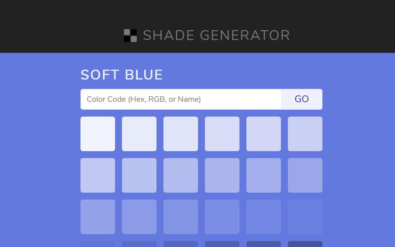 Shade Generators Close Colors