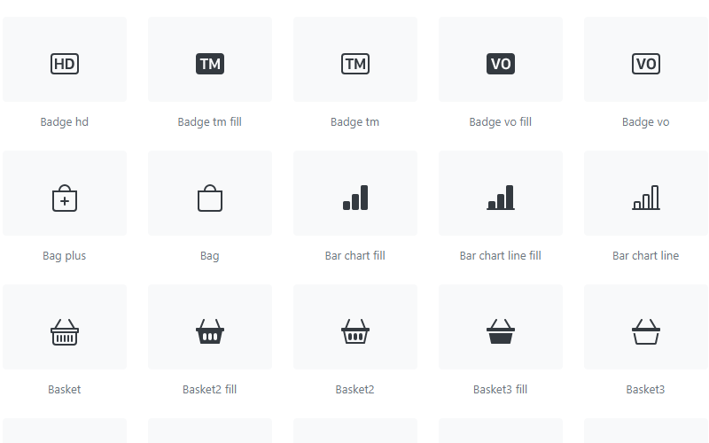 Bootstrap Icons Collection