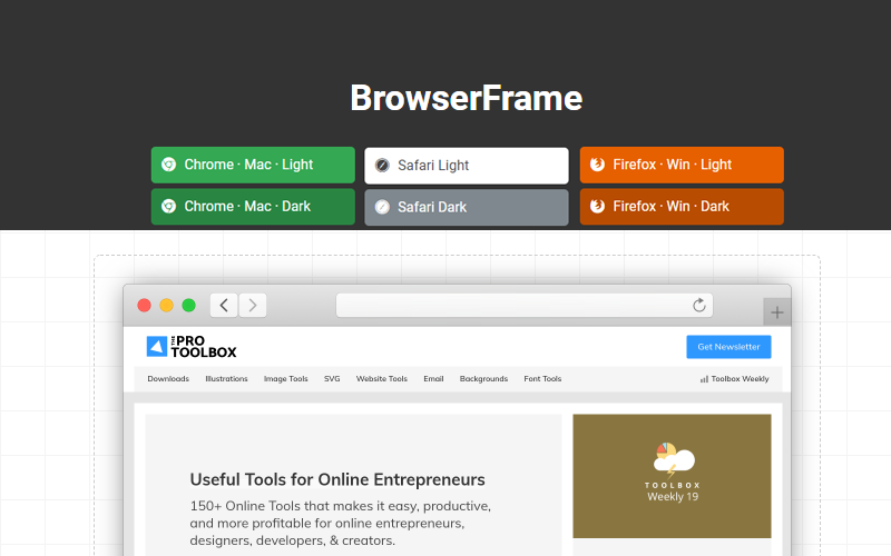 Browser Frame Website Screenshot Tool