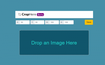 Crop Here Image Cropping Tool