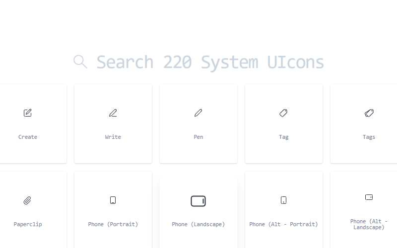 System Ui Icons Svg Collection