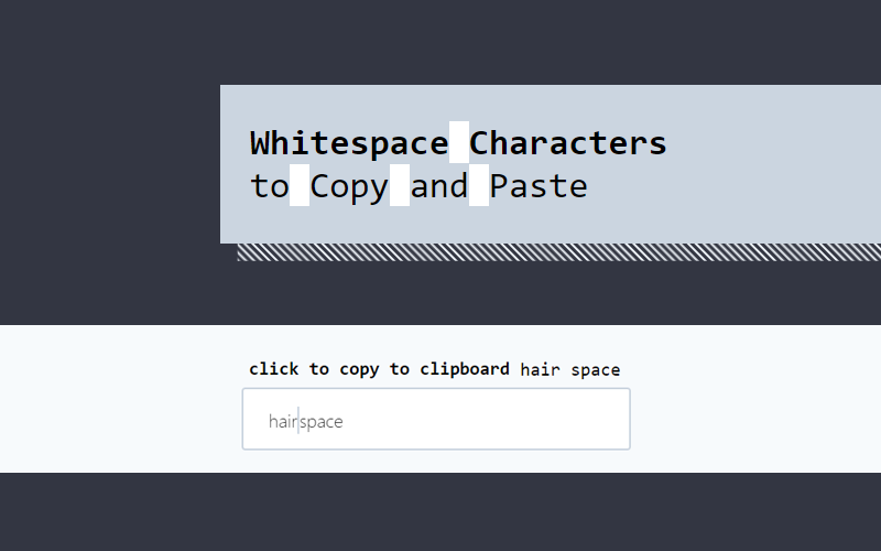 Whitespace Characters Copy Paste